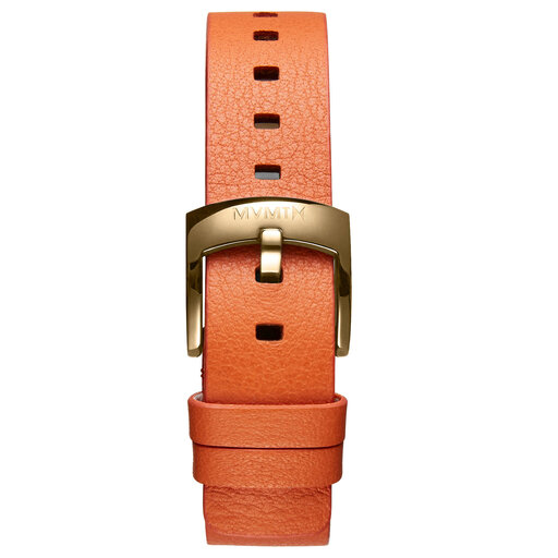 Bloom - 16mm Orange Leather
