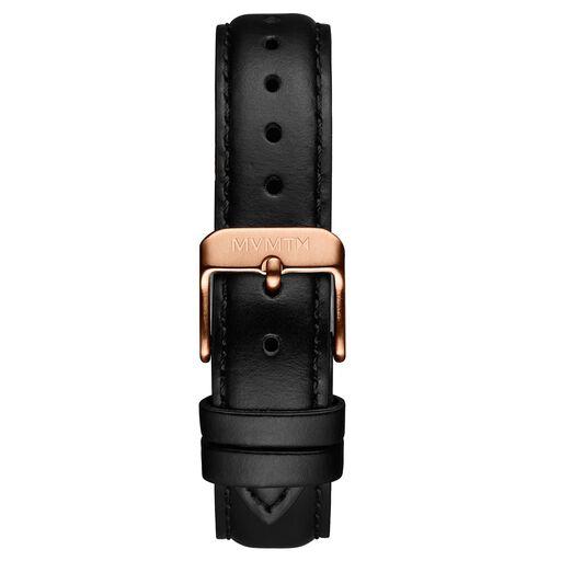 Signature Square - 16mm Black Leather