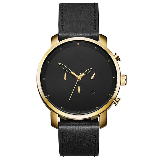 Chrono Gold Black Leather