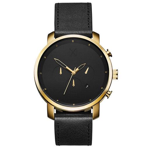 Chrono Gold Black Leather