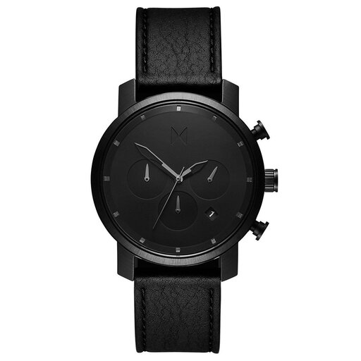 Chrono 40MM Black Leather