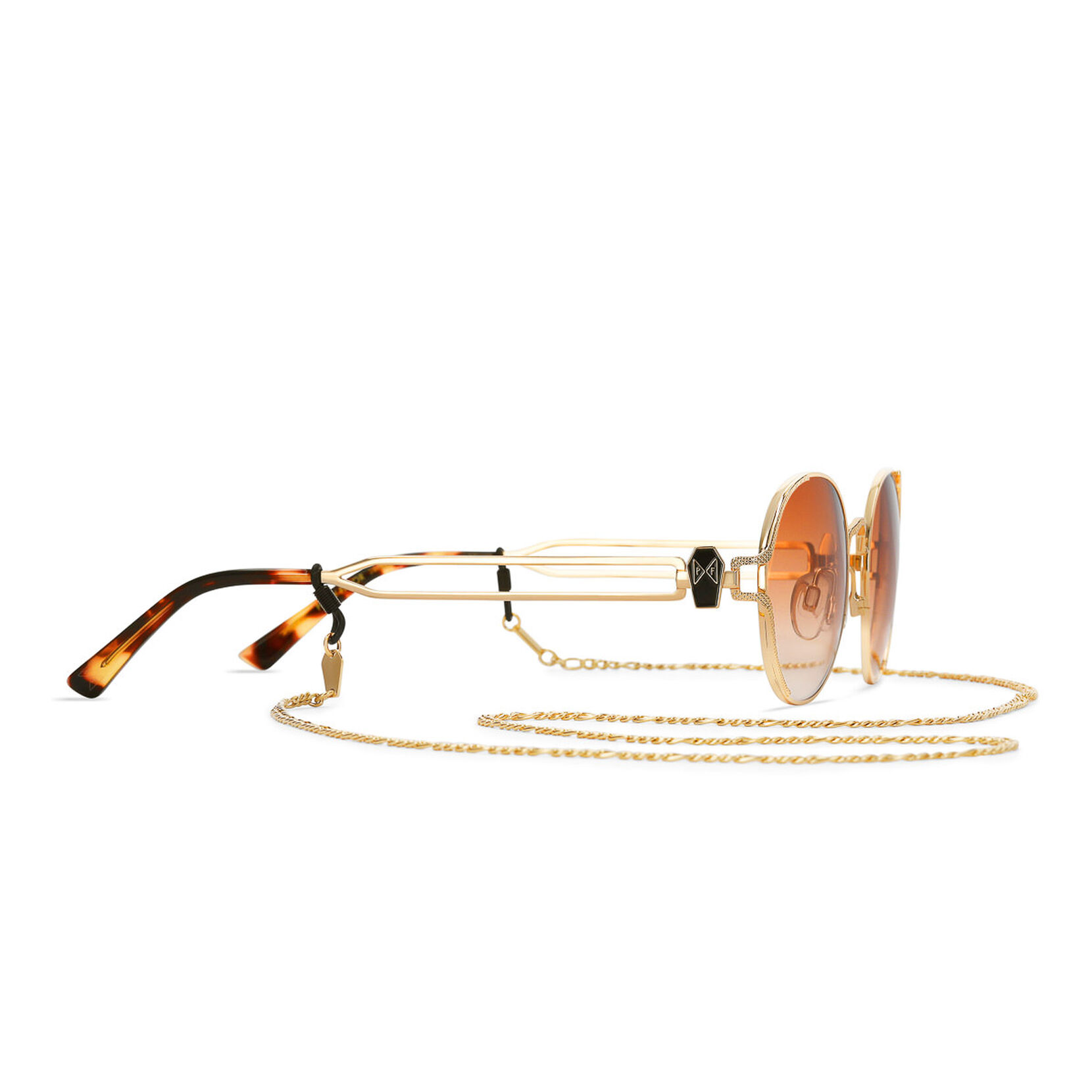 Party Favor Edition - Amber Orange Polished Gold + Amber Orange Lens Non-Polarized