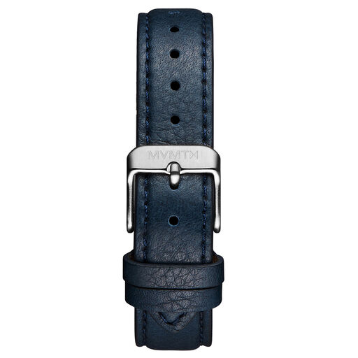 Signature Square - 16mm Navy Blue Leather