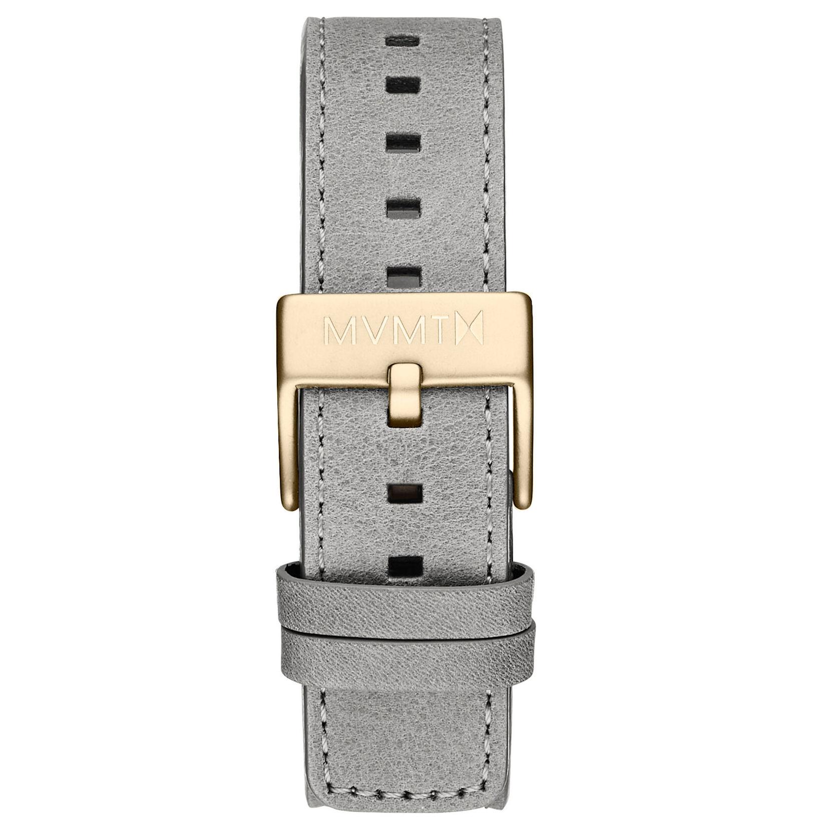 Chrono - 20mm Light Grey Leather