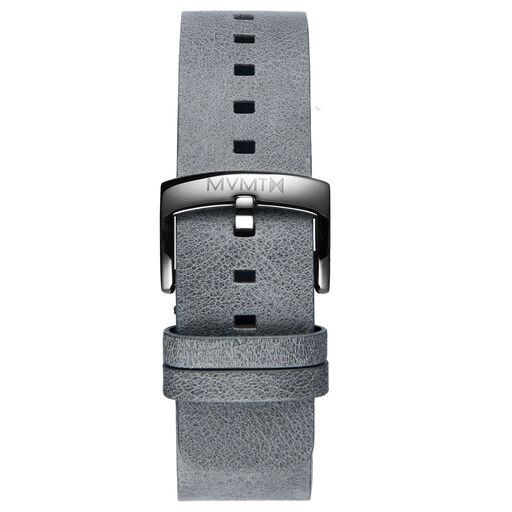 Blacktop - 24mm Grey Leather