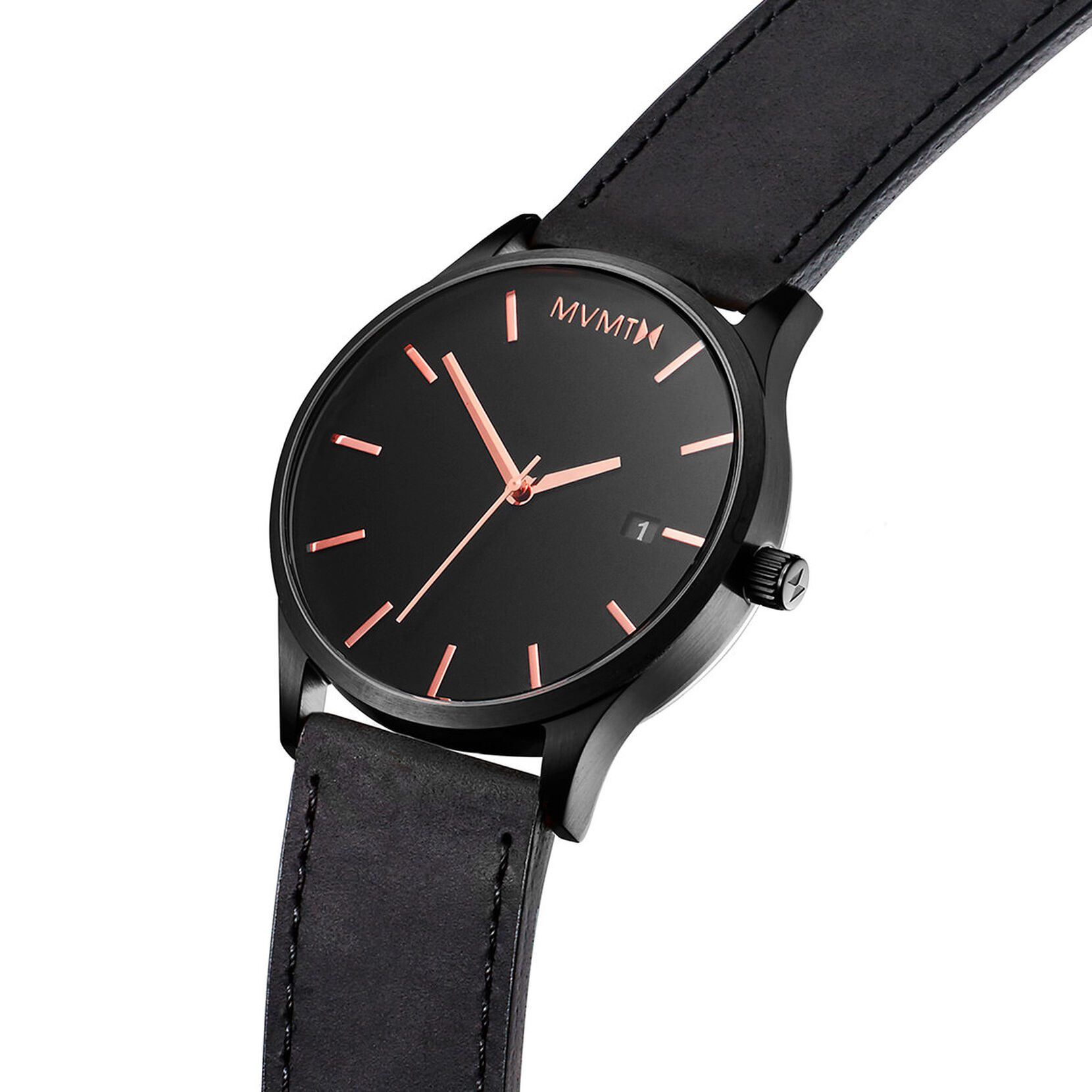Classic Black Rose Leather