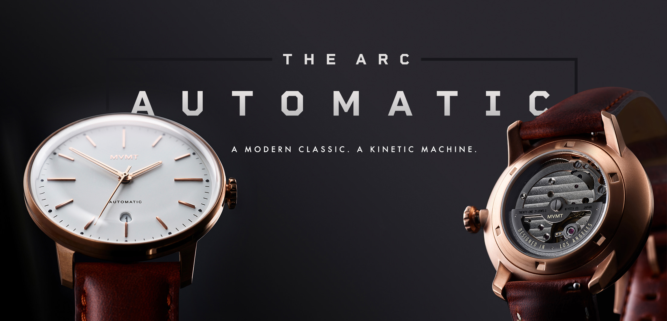 The Arc Automatic. A modern classic. A kinetic machine.