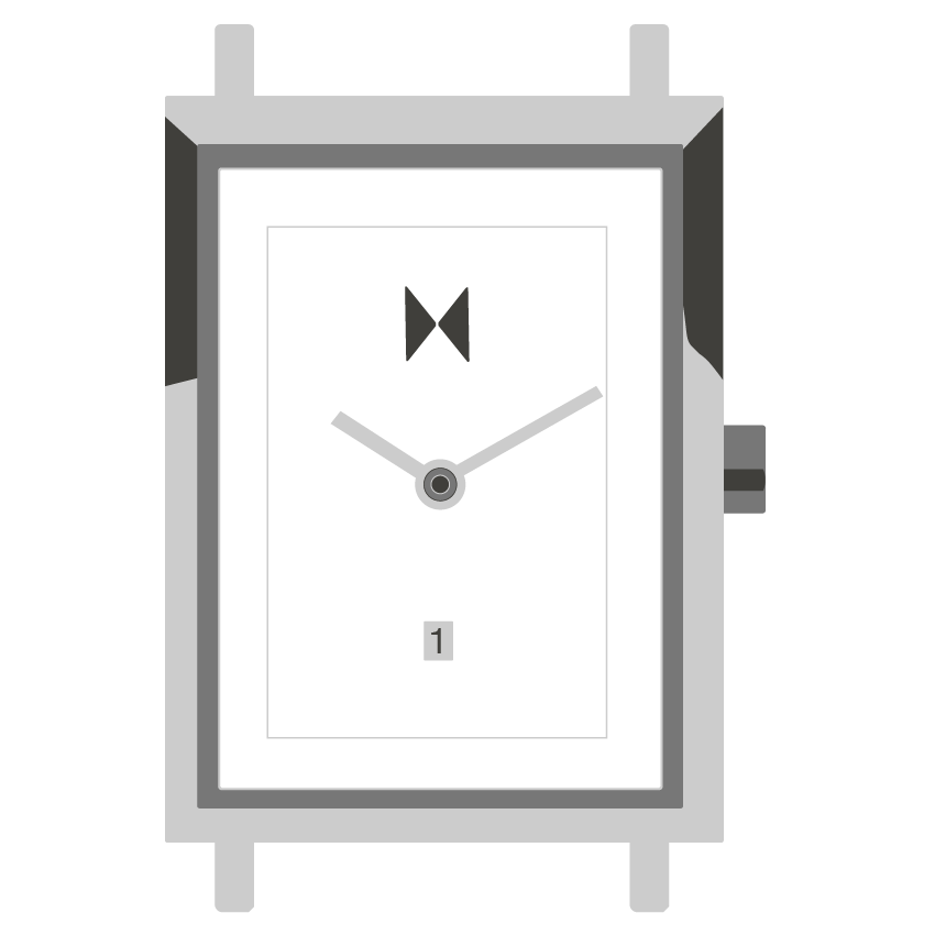 Signature Square watch illustration