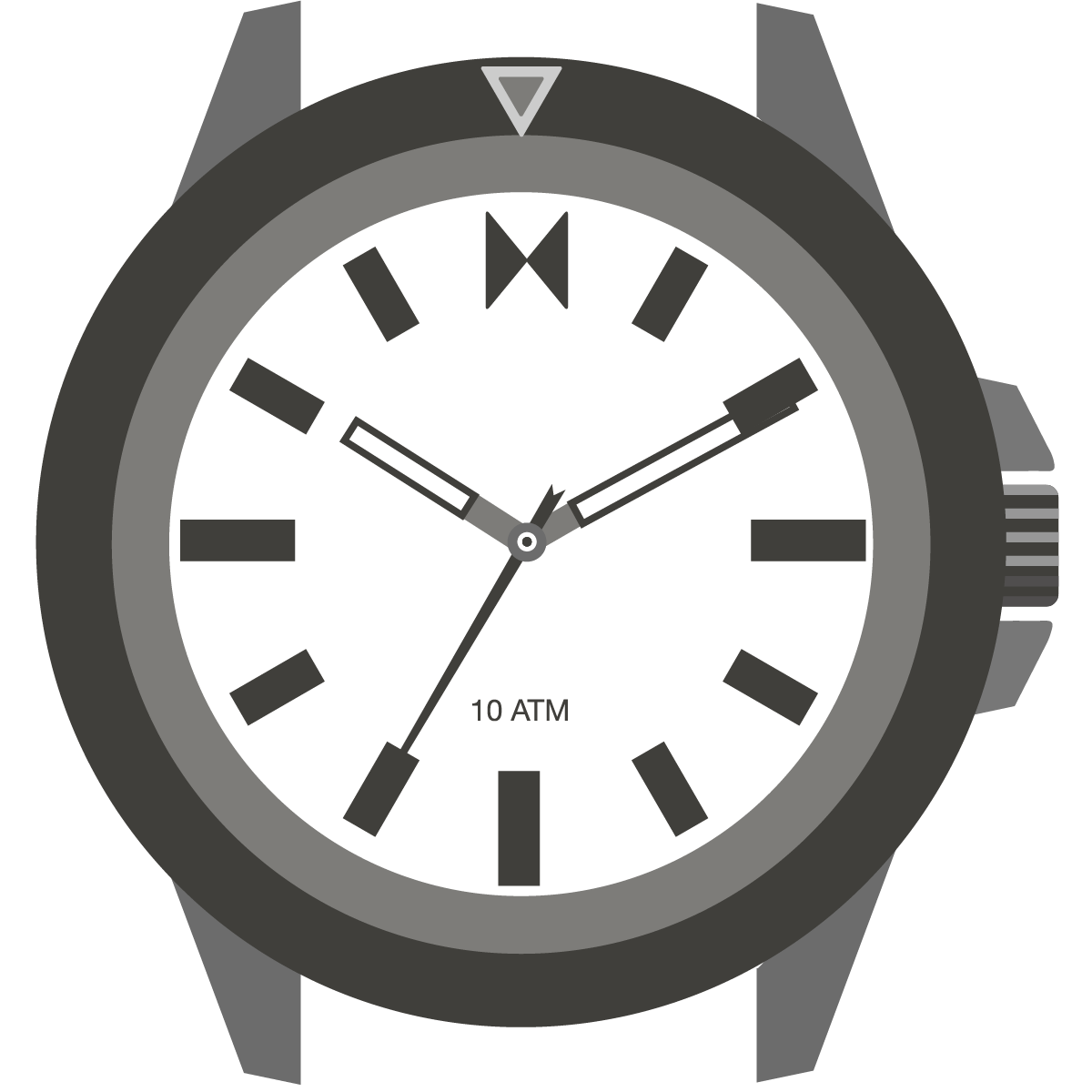 Minimal Sport watch illustration
