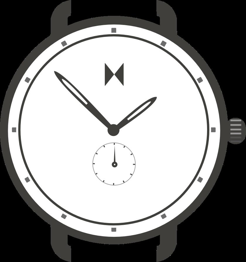 Revolver watch illustration